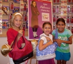 From left: Hannah, Emma & Marissa at American Girl Place.